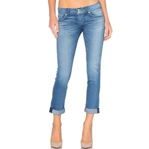 Hudson Ginny Ankle Straight Jeans With Cuff